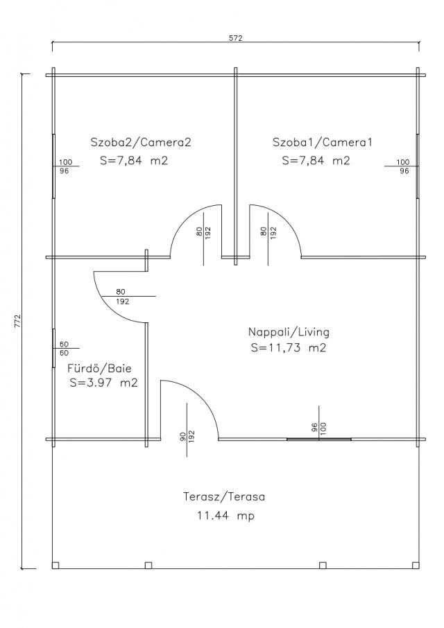 Villa's - Balaton 1B plan