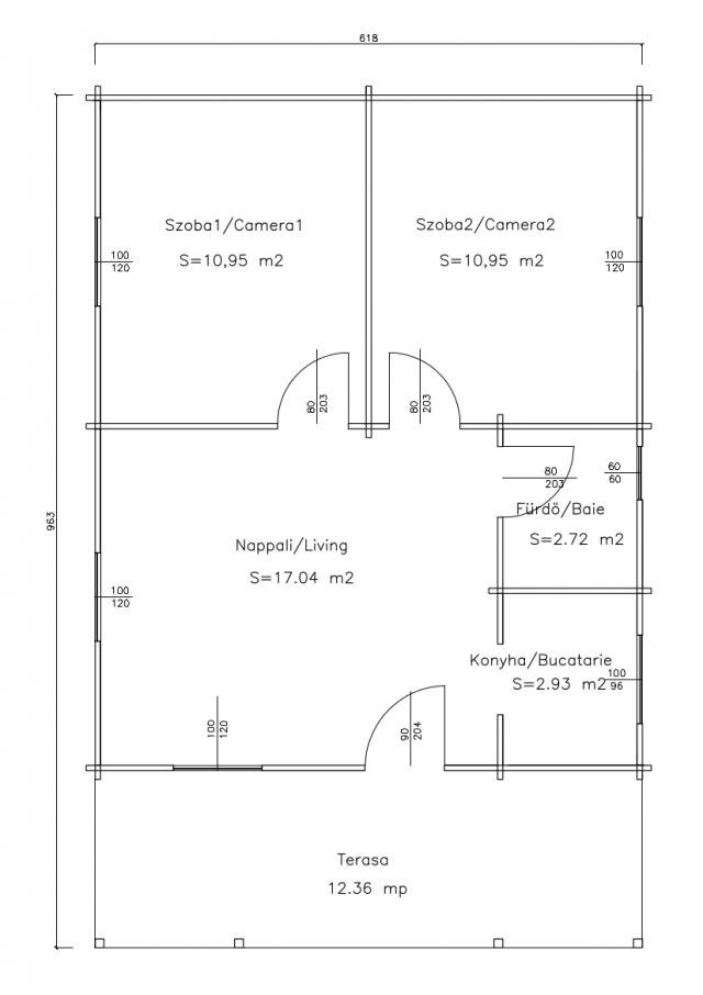 Villa's - Balaton 4 plan