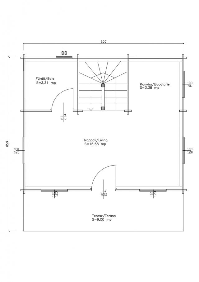 Family Houses - Vásárhely plan